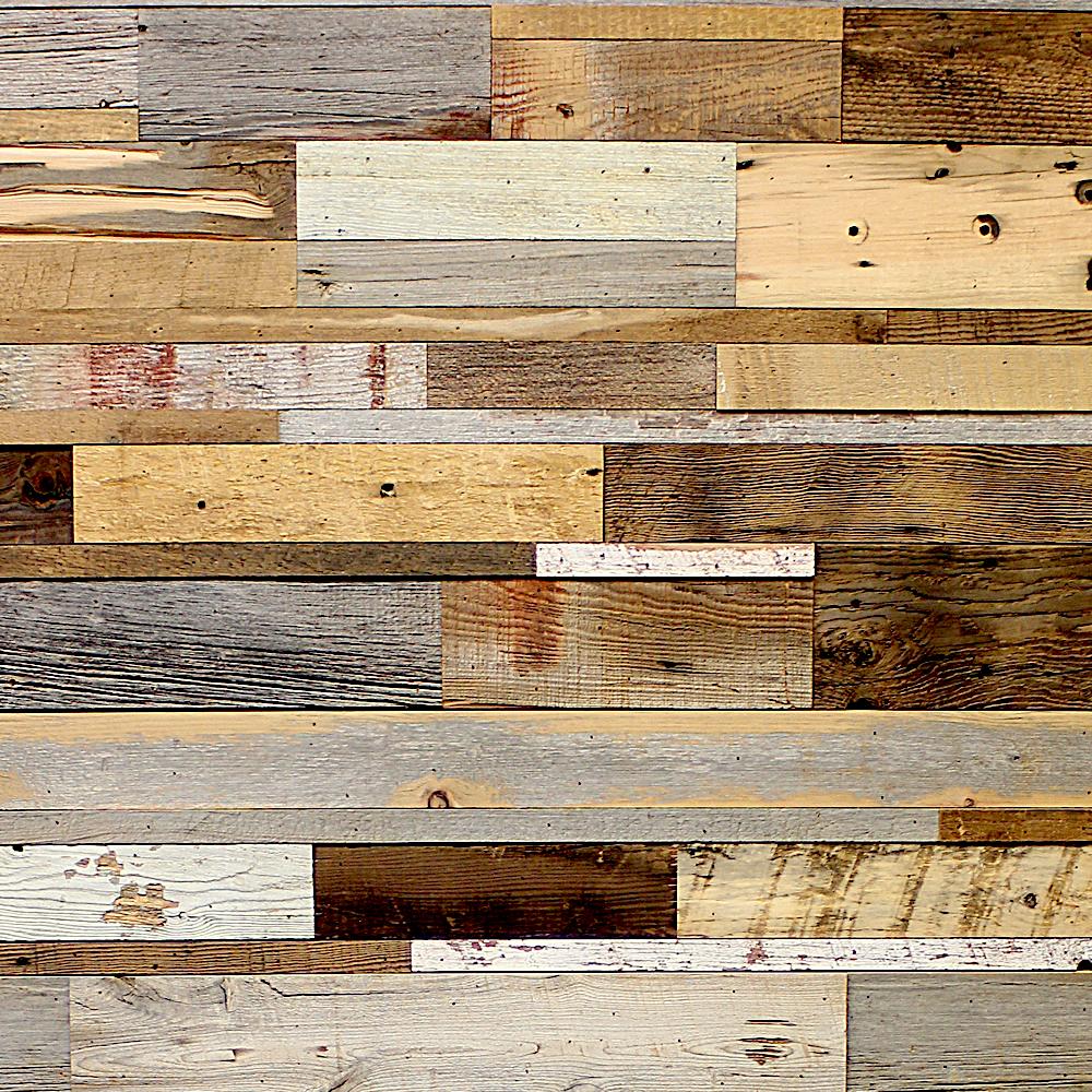 decoration avec bardage en vieux bois patchwork. Black Bedroom Furniture Sets. Home Design Ideas