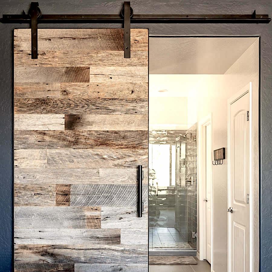 acheter une porte en bois ancien gris. Black Bedroom Furniture Sets. Home Design Ideas