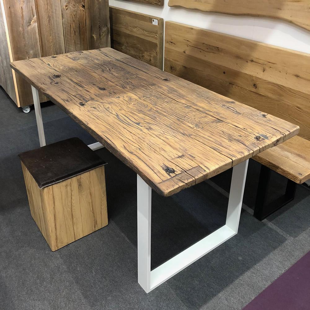 Vente table fond de wagon chene
