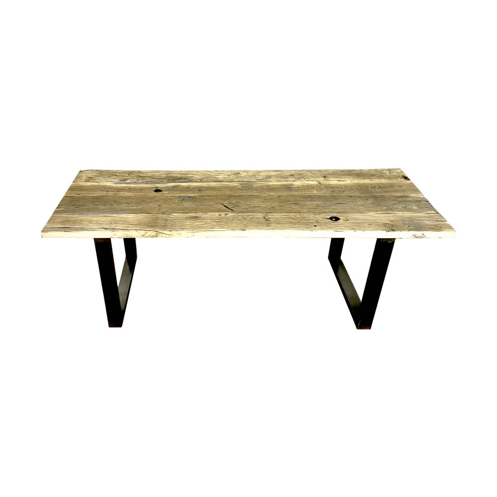 Vente table fond de wagon chene